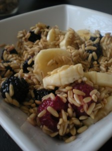 raw berry breakfast